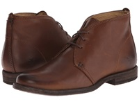 Frye Phillip Chukka Cognac Soft Vintage Leather Women's Lace Up Boots Brown