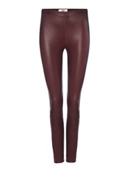 Noa Noa Stretch Leather Leggings Purple