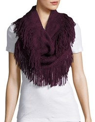 Joolay Fringe Trimmed Infinity Loop Scarf Elderberry