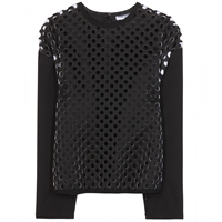 Opening Ceremony Laser Cut Neoprene Top Black