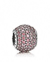 Pandora Design Pandora Charm Sterling Silver And Cubic Zirconia Pink Pave Lights Moments Collection Silver Salmon