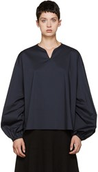 Cyclas Navy Smock Blouse
