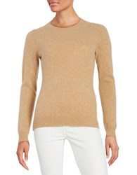 Lord And Taylor Cashmere Sweater Classic Camel Heather