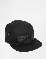 Fila Black Line 5 Panel Cap Black