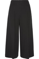 Valentino Cropped Silk Crepe Wide Leg Pants
