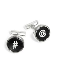 Kenneth Cole Symbol Cuff Links Black White