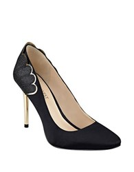 Nine West Rainiza Satin Stilettos Black