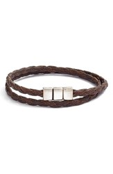 Men's Torino Belts Braided Leather Wrap Bracelet Vintage Tan