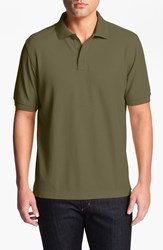 Nordstrom Men's Big And Tall Men's Shop 'Classic' Regular Fit Pique Polo Olive Night