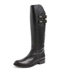 Andre Assous Roma Leather Riding Boot Black