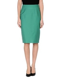 Rena Lange Knee Length Skirts Green