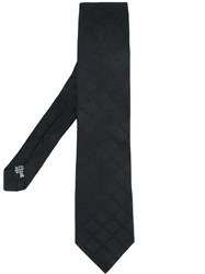 Emporio Armani Checked Tie Black