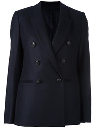 Neil Barrett Double Breasted Blazer Blue
