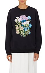 Christopher Kane Women's Flower Applique Sweatshirt Black