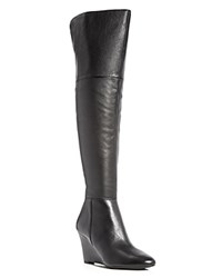 Via Spiga Kennedy Over The Knee Wedge Boots Black