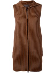 Rossignol Long Knit Vest Brown