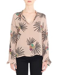 Day Birger Et Mikkelsen Floral Printed Silk Blend Top