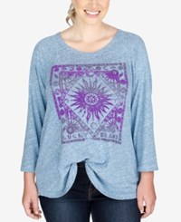 Lucky Brand Trendy Plus Size Sun Graphic T Shirt Heather