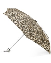 Totes Signature Manual Small Umbrella Leopard Spot