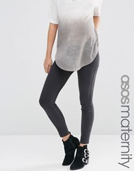 Asos Maternity Rivington Jegging In Washed Black Washed Black