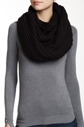 J.Crew Factory Chunky Ribbed Knit Infinity Scarf Black