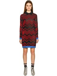 M Missoni Cotton Blend Rib Knit Dress