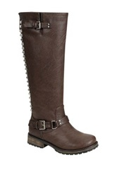 Oppo Trooper Studded Tall Boot Brown