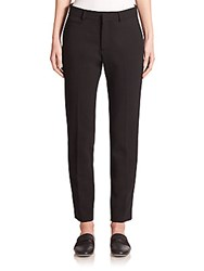 Christopher Kane Wool Straight Leg Trousers Black