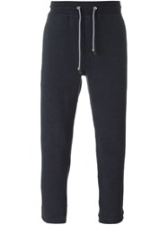 Brunello Cucinelli Drawstring Track Pants Blue