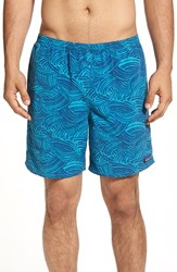 Patagonia Men's 'Baggies Longs' Swim Trunks Turquoise