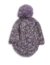 Totes Knit Beanie Cap Purple