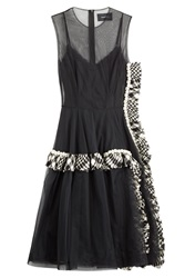 Simone Rocha Embellished Dress With Tulle And Boucle Black