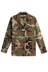 Rag And Bone Cotton Camouflage Jacket Green