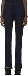 Marques Almeida Navy Wool Lounge Pants