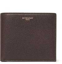 Givenchy Full Grain Leather Billfold Wallet Dark Brown