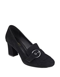 Nine West Umbriah Fringed Suede Dress Pumps Black
