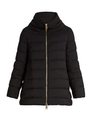 Herno Funnel Neck Down Filled Jacket Black
