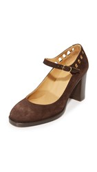 A.P.C. Chaussures Heloise Mary Jane Pumps Marron Fonce