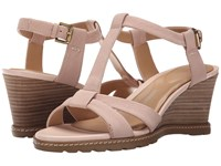 Rockport Garden Court T Strap Rich Cloud Goat Tumble Nubuck Women's Sandals Beige