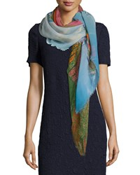 Wind Turbine Printed Scarf Multi Colors Akris