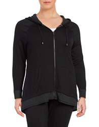 Marc New York Long Sleeve Zip Up Hoodie Black