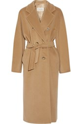 Max Mara Madame Wool And Cashmere Blend Coat Camel