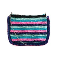 M Missoni Women's Lurex Clutch Bag Turquoise