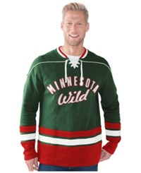 G3 Sports Men's Minnesota Wild Defenseman Lace Up Sweatshirt