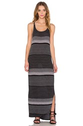 Stateside Crinkle Auto Stripe Tank Dress Black