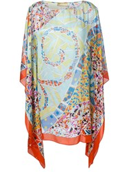 Emilio Pucci Stained Glass Print Kaftan Dress Multicolour