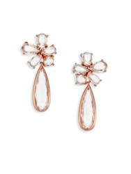Ippolita Rose Rock Candy Clear Quartz Cluster Drop Earrings Rose Gold