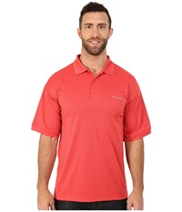 Columbia Perfect Cast Polo Extended Sunset Red Men's Clothing Multi