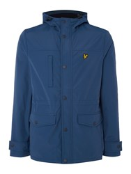 Lyle And Scott Microfleece Lined Jacket Mid Blue