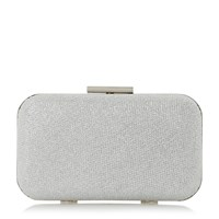Linea Belisse Hard Case Clutch Bag Silver